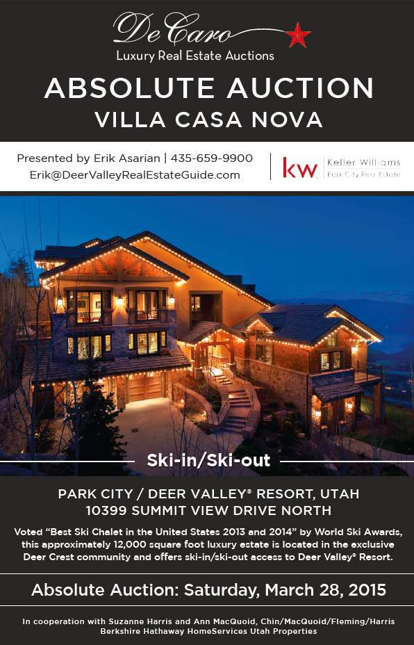 ski in ski out deer valley home auction next week new mountain utah style and design