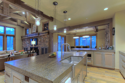 open floor plan in colony home Park City